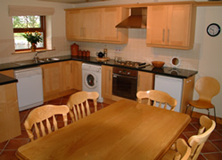 Self Catering Accommodation in Boat Cottage offers a spacious kitchen and Dining area with views over Strangford Lough and Ballymorran Bay