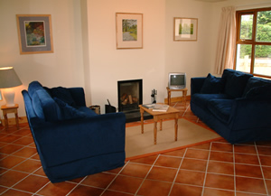 Living area in Boat Cattage, Self Catering Holiday house, on the shores of Strangford Lough